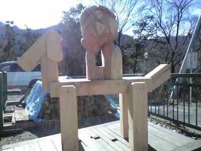 木工オブジェ