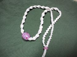 木綿紐とトンボ玉のネックレス