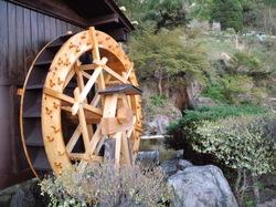 牧水の滝の水車