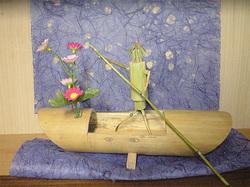 竹細工の「長瀞舟下り」